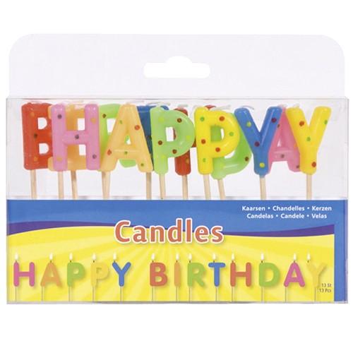Kaarsjes Happy Birthday
