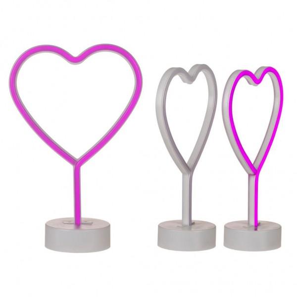 Hart Neon Licht Roze 30 Cm
