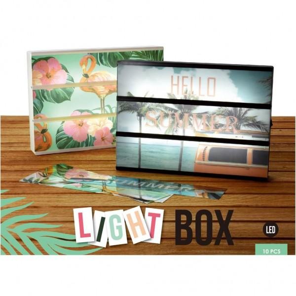 Lichtbox Led Met Sjablonen 31x4x22 Cm