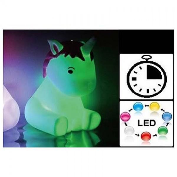 Unicorn Lamp met Timer 16cm