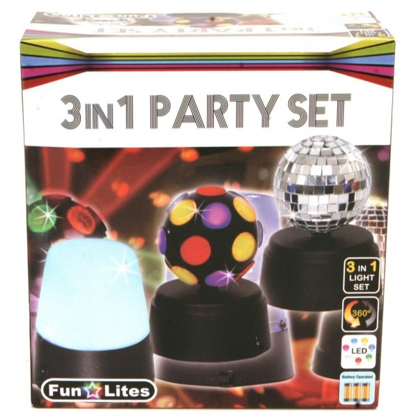 Disco 3 In 1 Party Set