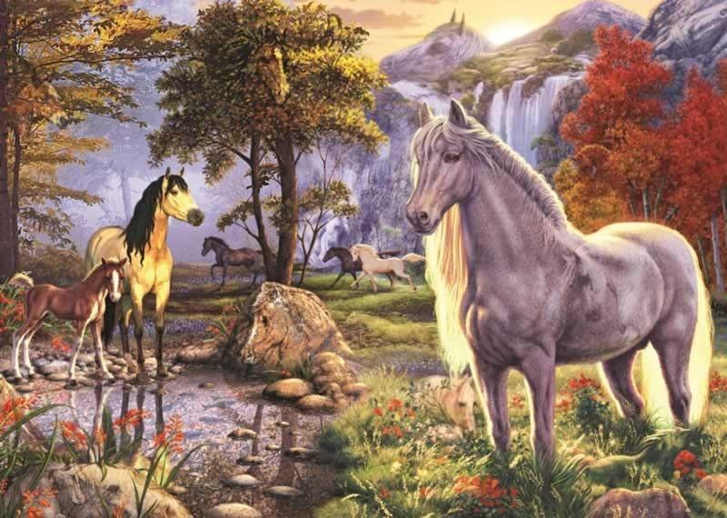 Gt jumbo gt volwassen puzzels gt jumbo puzzel verborgen paarden 1000