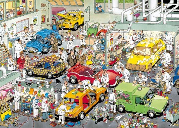 Puzzel Jan van Haasteren Autospuiterij (500 stukjes)