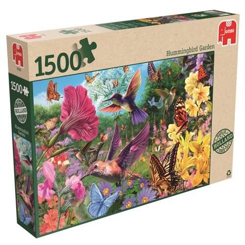 Jumbo puzzel Er is een tuin vol kolibris (1500)