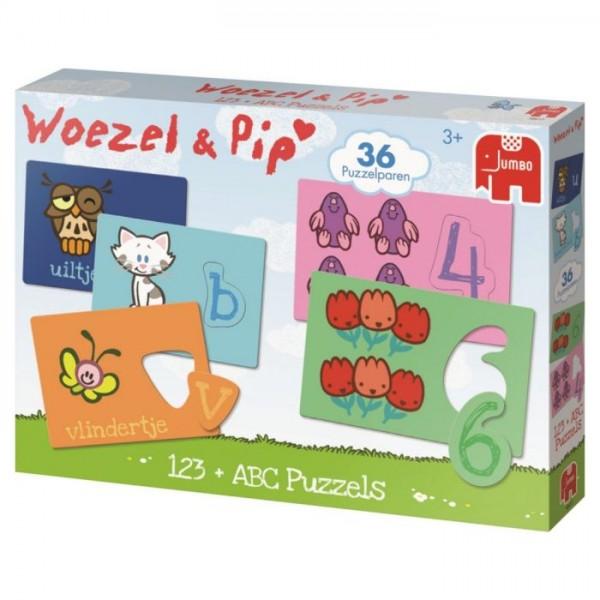 Jumbo Puzzel Spel Woezel en Pip ABC + 123