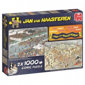 Puzzel Jan Van Haasteren Winterpret 2-In-1 (2x1000)