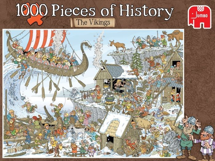 Jumbo Puzzel Pieces of History Vikings (1000)