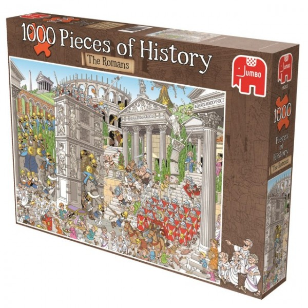 Jumbo puzzel Pieces of History De Romeinen (1000)