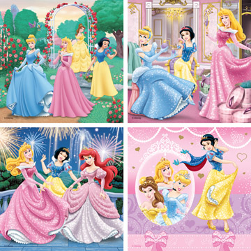 Puzzels beeldschone princessen (6, 9, 12, en 16)