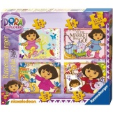Puzzel Dora the Explorer 4 in 1 (12, 16, 20 en 24)