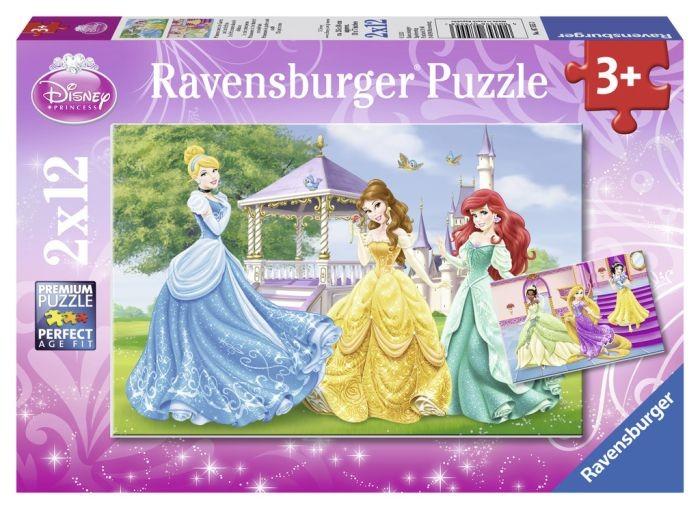 Ravensburger puzzel Disney Prinsessen In het kasteel en de tuin (2x12)