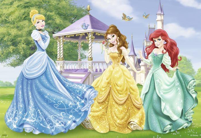 Ravensburger puzzel disney prinsessen in het kasteel en de tuin 2x12