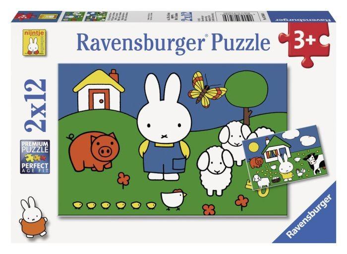 Ravensburger puzzel Nijntje bij de dieren (2x12)