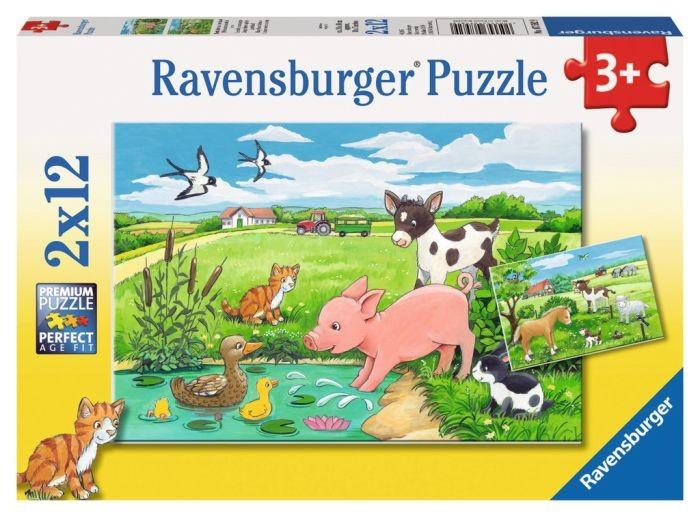 Ravensburger Puzzel Jonge dieren op het platteland (2x12)