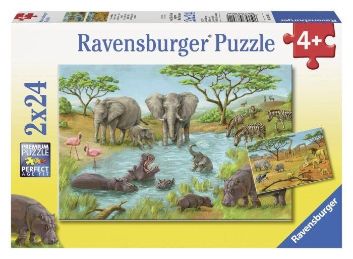 Ravensburger puzzel In de Wildernis (2x24)