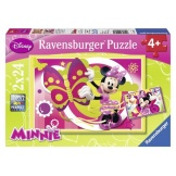 Ravensburger Puzzel Minnie Mouse Warm en Koud (2x24)
