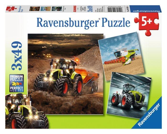 Ravensburger puzzel Claas, Axion, Lexion en Xerion (3x49)