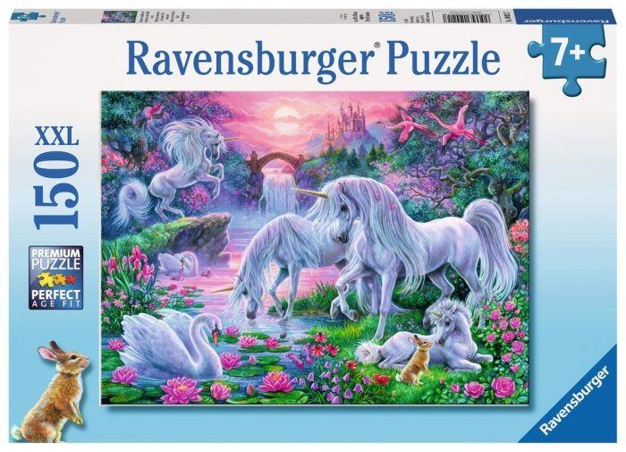 Ravensburger Puzzel Eenhoorns in het avondrood (150 XXL)