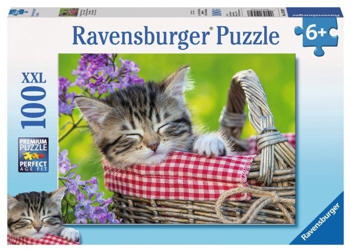 Ravensburger Puzzel Slapend Katje (100XXL) Ravensburger