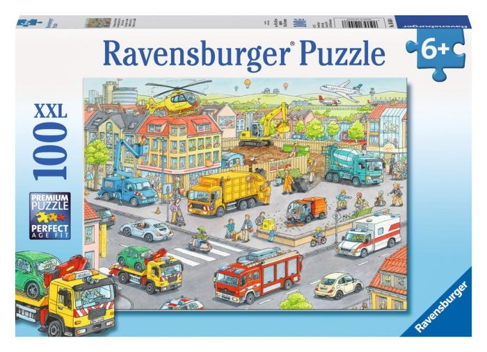 Ravensburger puzzel voertuigen in de stad (100xxl)