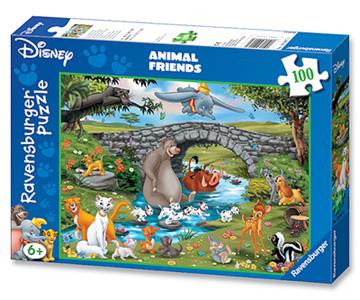 Puzzel disney familie animal friends 100