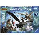 Ravensburger Puzzel Dragons 3 The Hidden World (100)