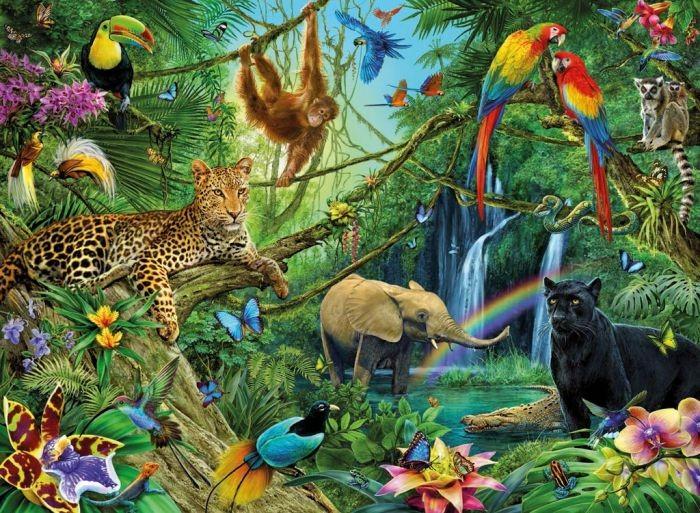 Ravensburger gt puzzels 200 stukjes gt puzzel dieren in de jungle 200