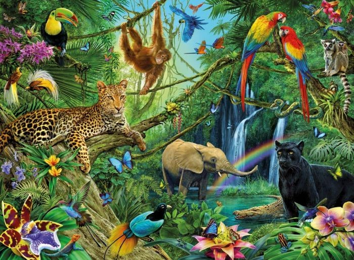 Ravensburger Puzzel Dieren in de jungle (200)