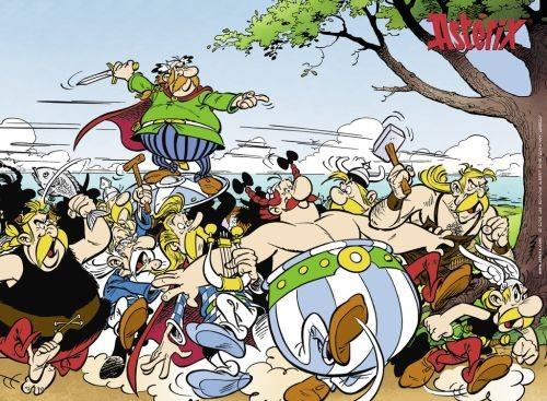 Ravensburger puzzel asterix en obelix de galliers gaan los 300 xxl