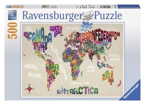 Ravensburger puzzel De wereld in woorden (500)