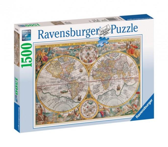 Ravensburger puzzel Wereldkaart 1594 (1500)