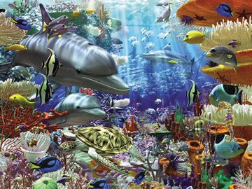 Puzzel leven onder water (3000) Ravensburger
