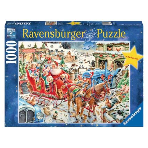 Ravensburger puzzel kerstmis op de boerderij (1000)