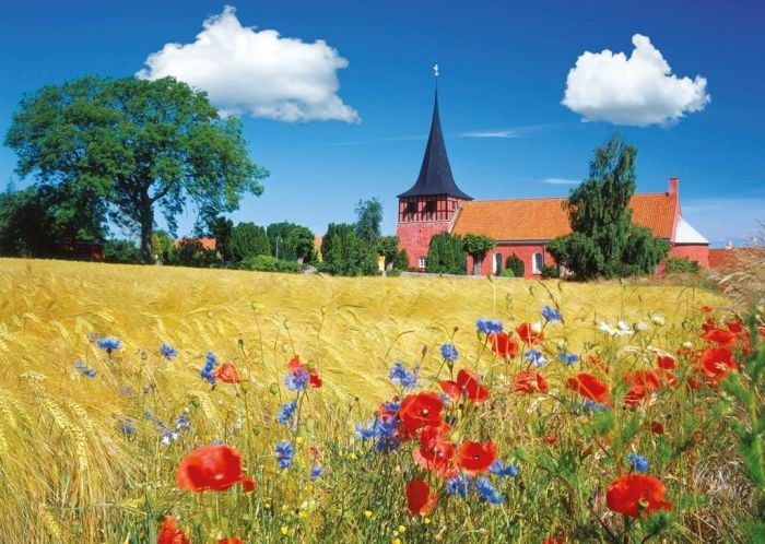 Puzzel Kerk in Bornholm, Denemarken (1000)