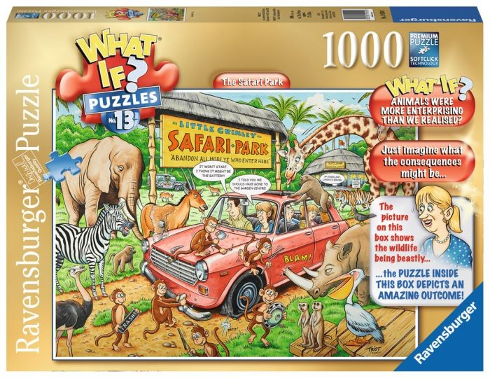 Ravensburger Puzzel What if? 13 The Safari Park (1000)