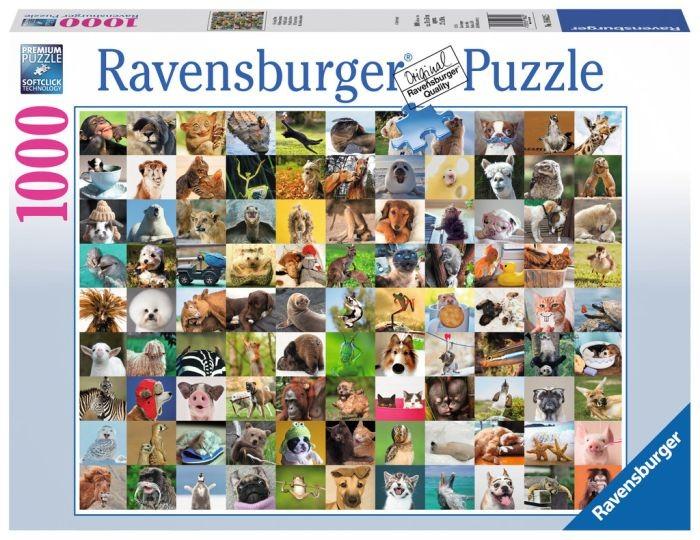 Ravensburger Puzzel 99 Vrolijke Dieren (1000)