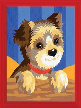 """Ravensburger schilderen op nummer """"yorkshire pup"""""""