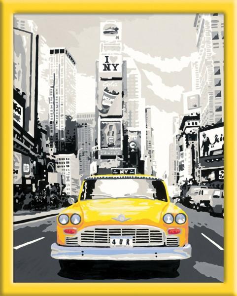 schilderen op nummer new york taxi. Black Bedroom Furniture Sets. Home Design Ideas