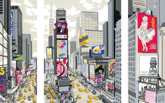 Ravensburger Schilderen op nummer New York Times Square Ravensburger