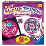 Mandala Tattoosstyle 2 in 1