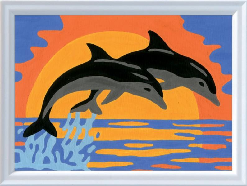 schilderen op nummer dolfijnenromantiek. Black Bedroom Furniture Sets. Home Design Ideas