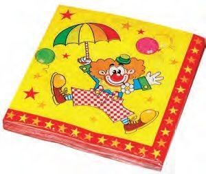 Servetten 33*33cm Clown