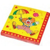 Servetten 33*33cm Clown