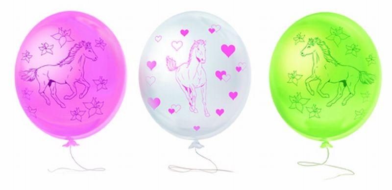 Ballonnen paarden 6 stuks