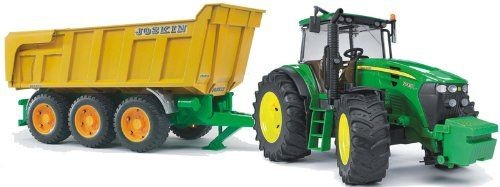 1173 Bruder John Deere 7930 With Joskin Tipping Trailer
