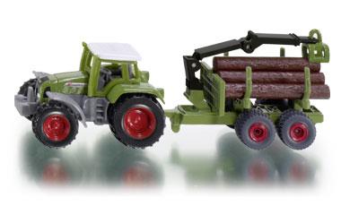 1645 Siku Tractor met Aanhanger