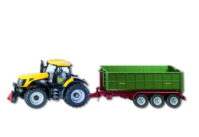 1855 Siku JCB tractor met trailer