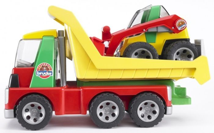 Bruder Roadmax Transporter met schovel