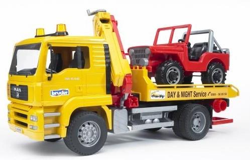 2750 Bruder M.A.N. Takelauto met jeep