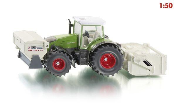 3541 Siku Fendt tractor met stabilisator en strooimachine